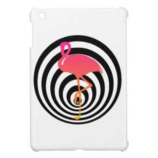 Beautiful flamingo in circles case for the iPad mini