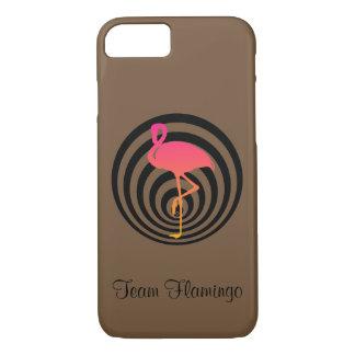 Beautiful flamingo in circles Case-Mate iPhone case