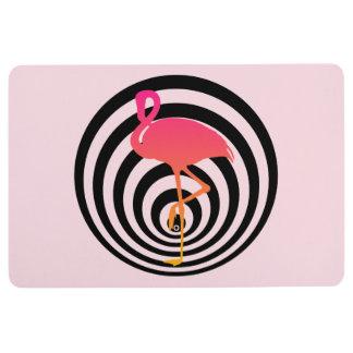 Beautiful flamingo in circles floor mat