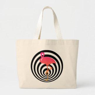 Beautiful flamingo in circles large tote bag