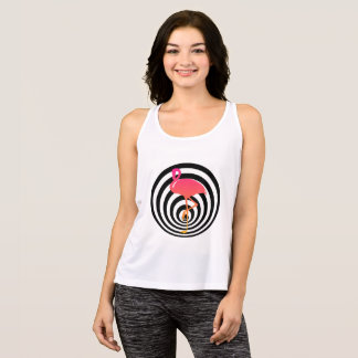 Beautiful flamingo in circles tank top