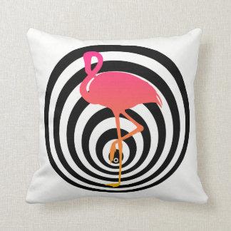 Beautiful flamingo in circles throw pillow