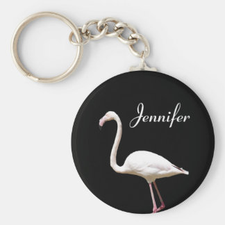 Beautiful Flamingo - Personalized Name Keychain
