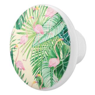 ★ Beautiful Flamingos Ceramic Knob