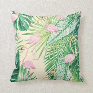 ★ Beautiful Flamingos Throw Pillow