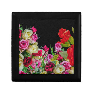 Beautiful Floral Abstract Black Gift Boxes
