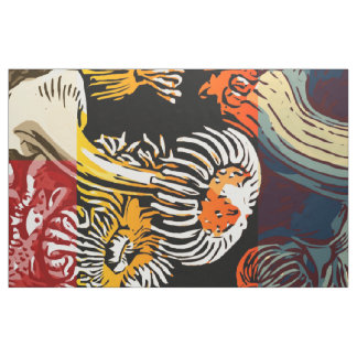 Beautiful Floral Abstract Fabric