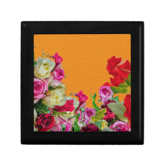 Beautiful Floral Abstract Orange Jewelry Boxes