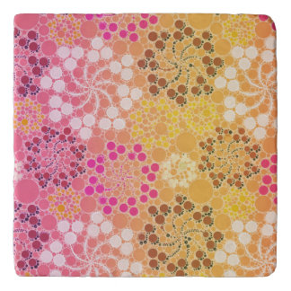 Beautiful Floral Abstract Pattern Trivet