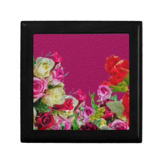 Beautiful Floral Abstract Pink Jewelry Boxes
