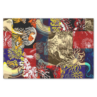 Beautiful Floral Abstract Tissue Paper