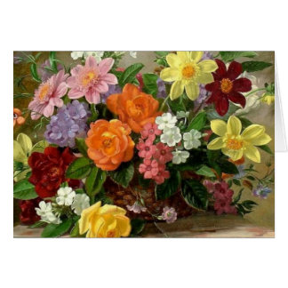 beautiful floral art card