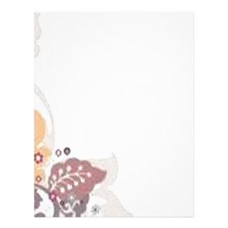 Beautiful floral background design letterhead design