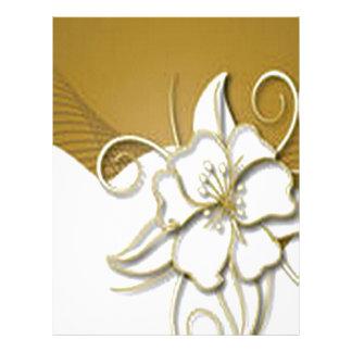 Beautiful floral background design custom letterhead