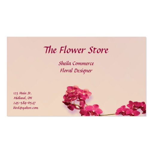 Beautiful Floral Business Card