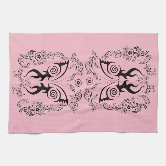 BEAUTIFUL FLORAL BUTTERFLY ART FOR KITCHEN TOWEL