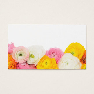 Beautiful floral composition business card
