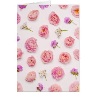 Beautiful floral composition card
