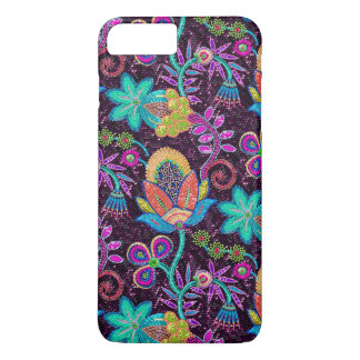 Beautiful Floral Design Glass Beads Look iPhone 8 Plus/7 Plus Case
