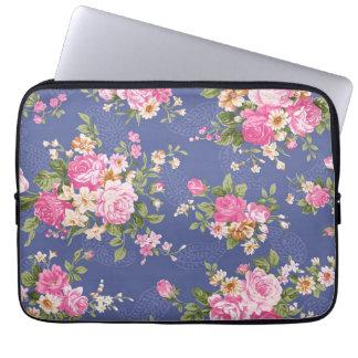 Beautiful floral design laptop sleeve