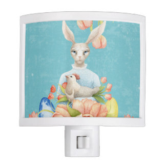 Beautiful Floral Flowers Animal Easter Bunny Night Lights