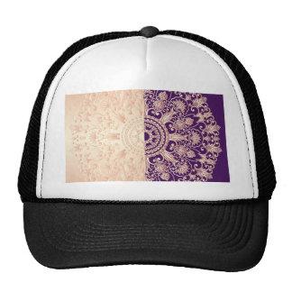 Beautiful,floral,gold,pink,purple,antique,vintage, Hat