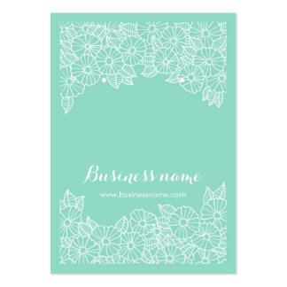 Beautiful Floral Mint Background Earring Cards Large Business Card