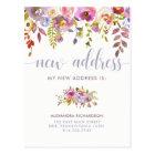 Beautiful Floral | New Address Postcard