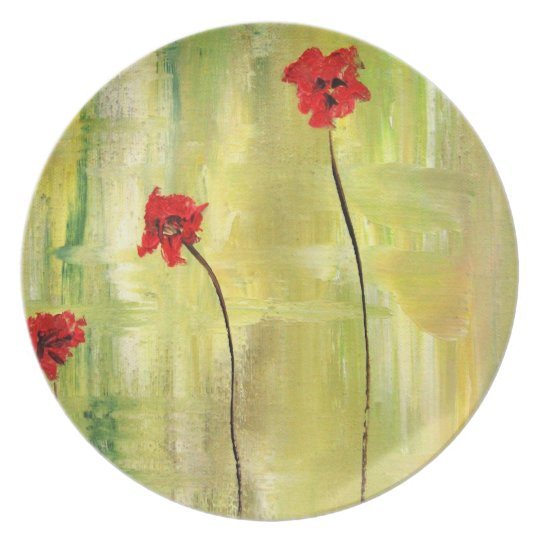Beautiful Floral Painting of Anemones. Plate