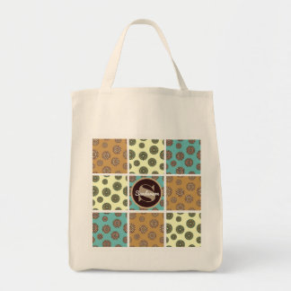 Beautiful Floral Patchwork w/Personalization Tote Bag