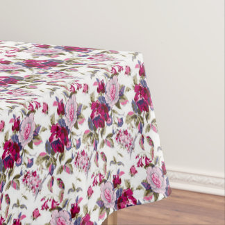 Beautiful floral pattern dining tablecloth