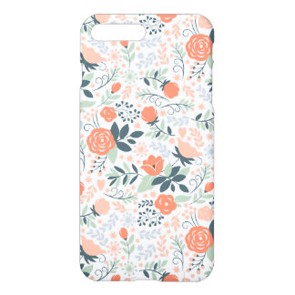 Beautiful Floral Pattern Girly iPhone 7 Plus Case