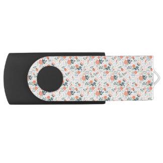 Beautiful Floral Pattern Girly Swivel USB 3.0 Flash Drive
