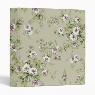 Beautiful floral pattern vinyl binder