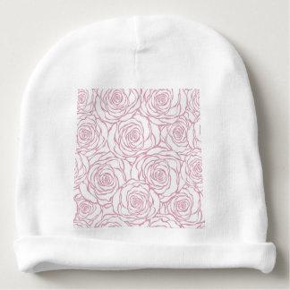 beautiful, floral.pink,white,peonies,girly,feminin baby beanie