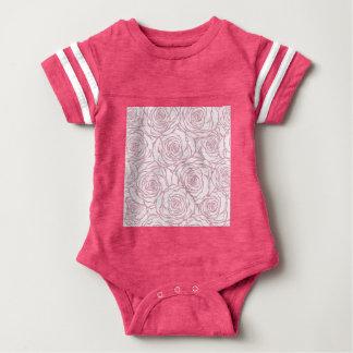 beautiful, floral.pink,white,peonies,girly,feminin baby bodysuit