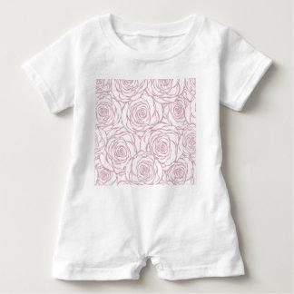 beautiful, floral.pink,white,peonies,girly,feminin baby romper