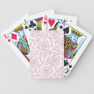beautiful, floral.pink,white,peonies,girly,feminin bicycle playing cards