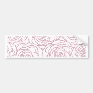 beautiful, floral.pink,white,peonies,girly,feminin bumper sticker