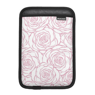 beautiful, floral.pink,white,peonies,girly,feminin iPad mini sleeve