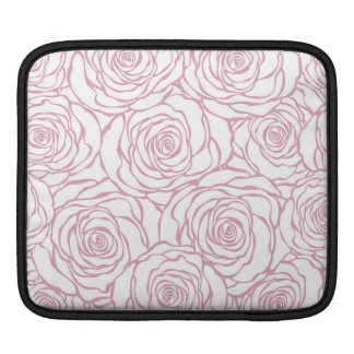beautiful, floral.pink,white,peonies,girly,feminin iPad sleeve