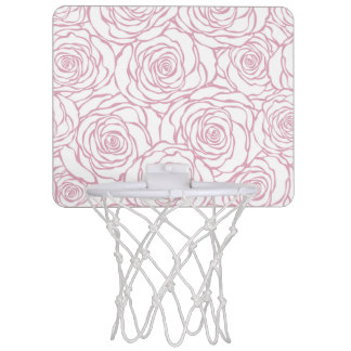 beautiful, floral.pink,white,peonies,girly,feminin mini basketball hoop