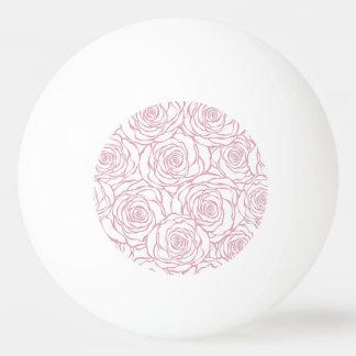 beautiful, floral.pink,white,peonies,girly,feminin ping pong ball