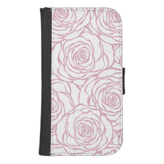 beautiful, floral.pink,white,peonies,girly,feminin samsung s4 wallet case