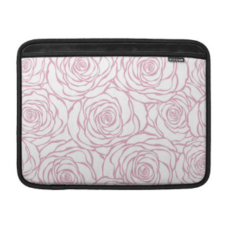 beautiful, floral.pink,white,peonies,girly,feminin sleeve for MacBook air