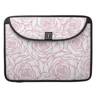 beautiful, floral.pink,white,peonies,girly,feminin sleeve for MacBooks