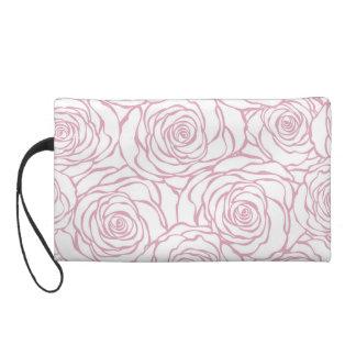 beautiful, floral.pink,white,peonies,girly,feminin wristlet