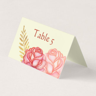 Beautiful Floral Place Card