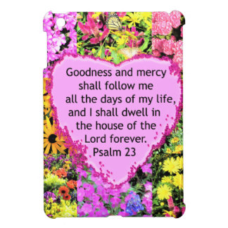 BEAUTIFUL FLORAL PSALM 23 DESIGN iPad MINI CASES