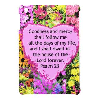 BEAUTIFUL FLORAL PSALM 23 DESIGN iPad MINI COVER